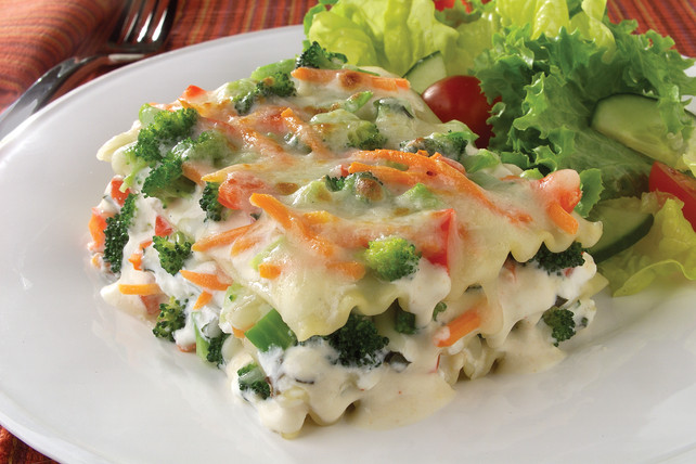 Vegetarian Sauces Recipes  Veggie Lasagna in Parmesan Cream Sauce Kraft Recipes