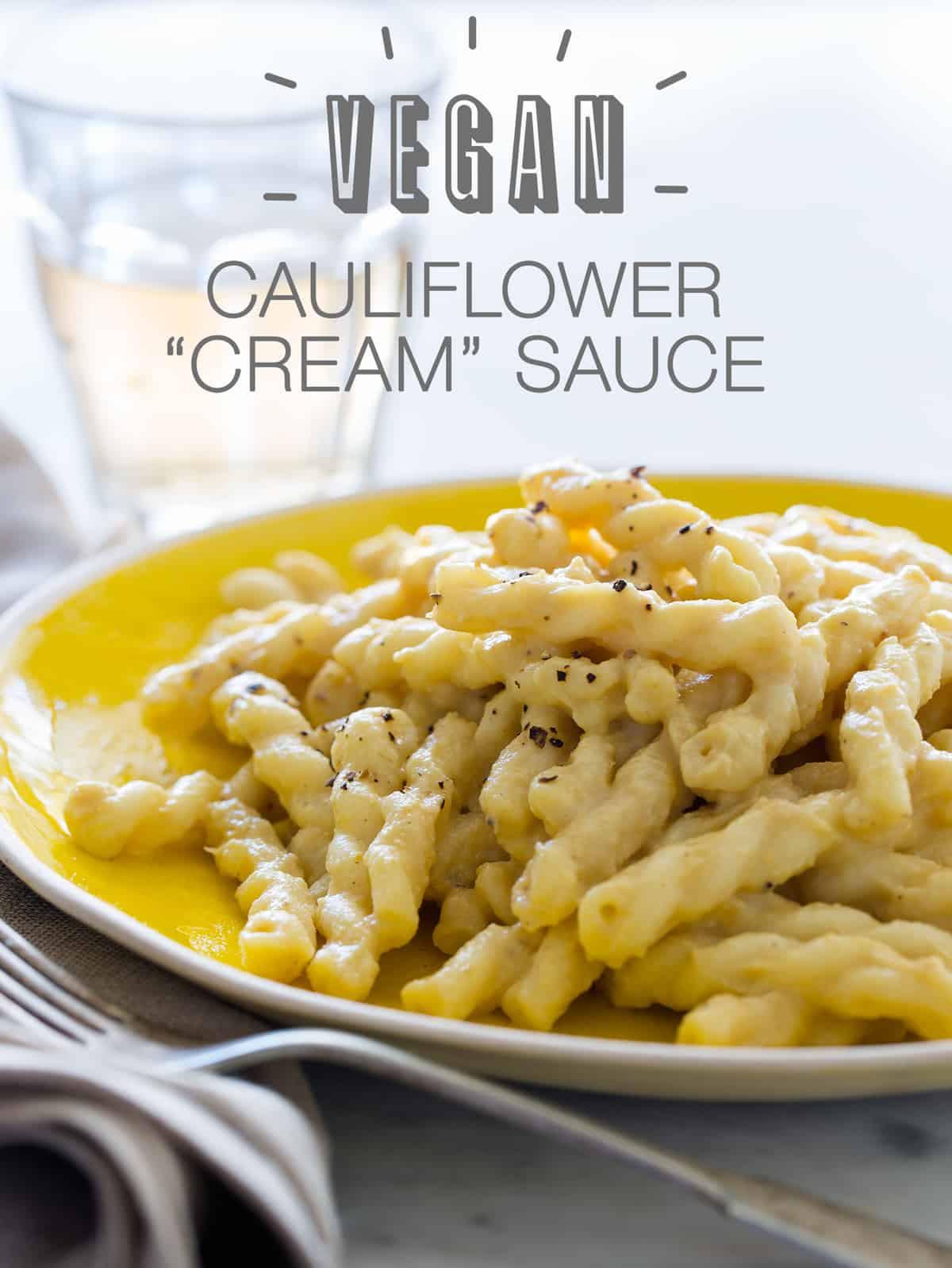 Vegetarian Sauces Recipes  Vegan Cauliflower Cream Sauce Vegan recipe