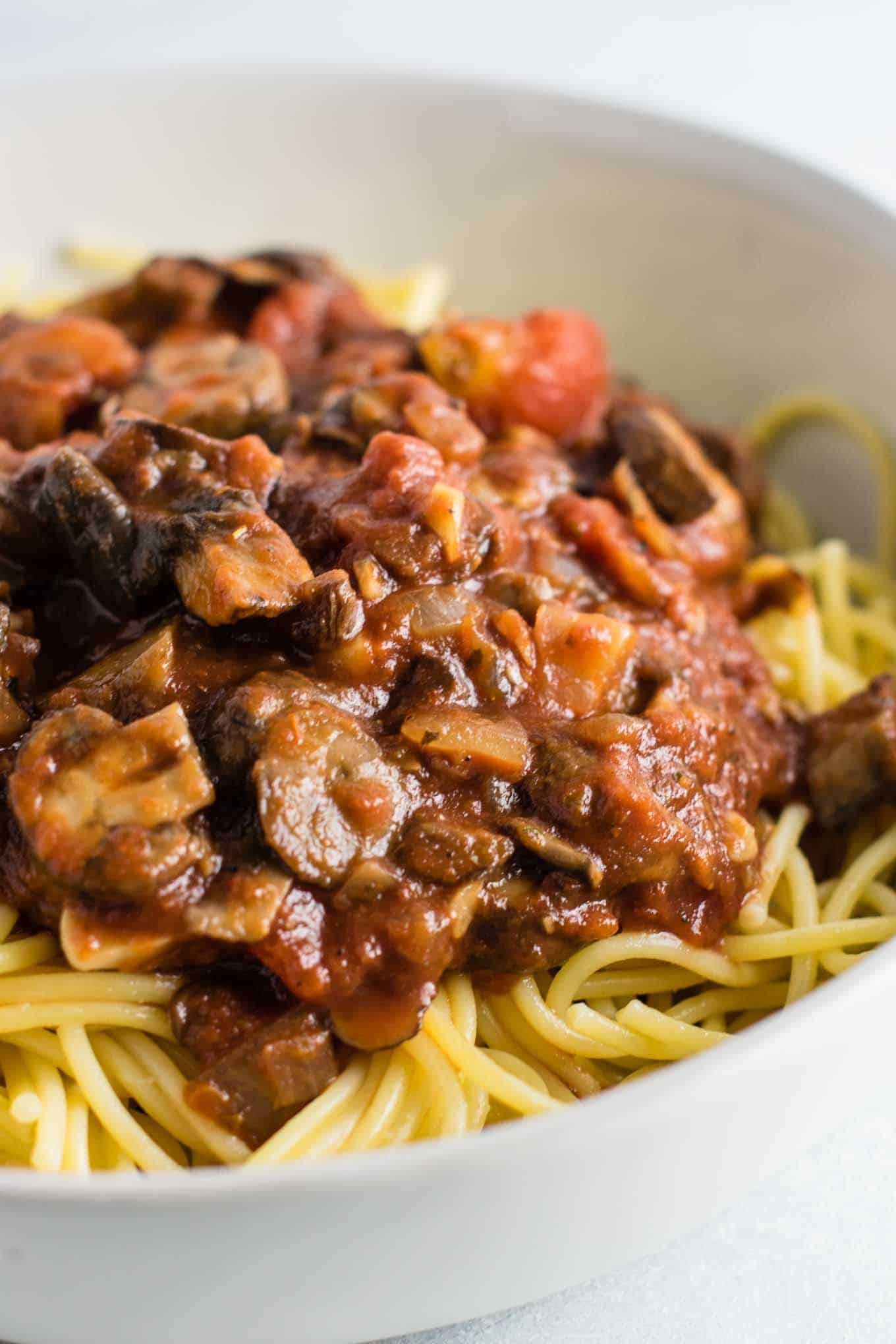 Vegetarian Sauces Recipes  Easy Meatless Spaghetti Sauce Recipe Build Your Bite
