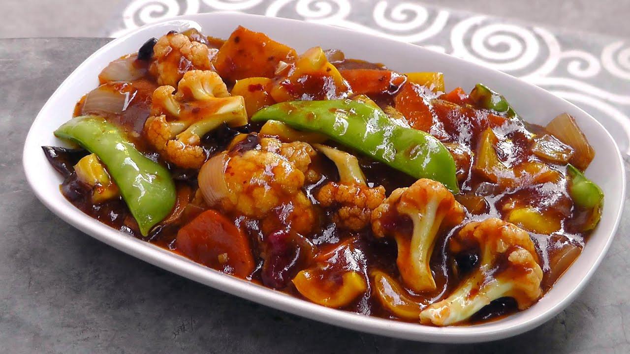 Vegetarian Sauces Recipes  Chinese Ve ables in Szechuan Sauce Vegan Ve arian