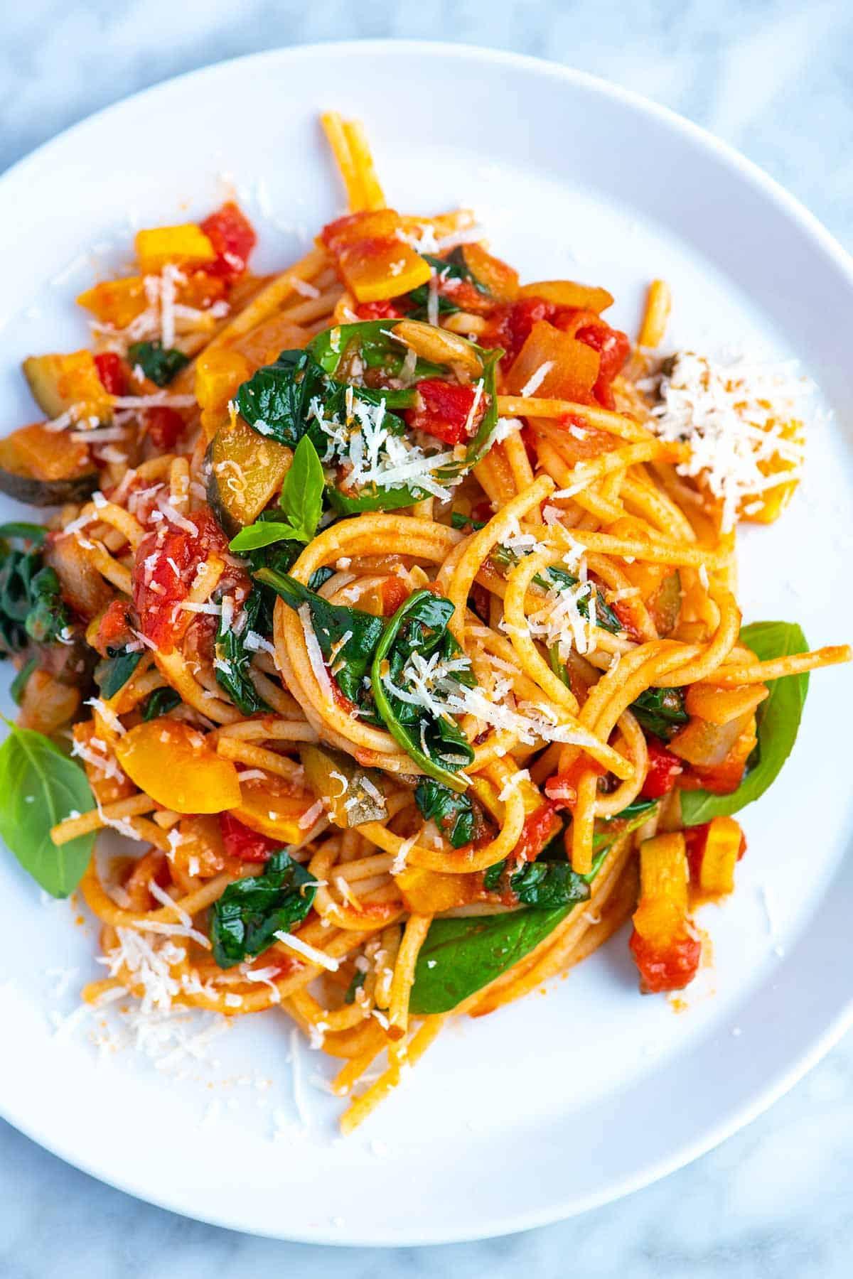 Vegetarian Sauces Recipes  Fresh and Easy Veggie Spaghetti