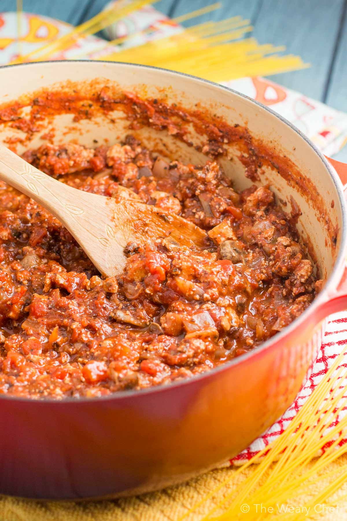 Vegetarian Sauces Recipes  Hearty Ve arian Spaghetti Sauce with Tofu and Mushrooms