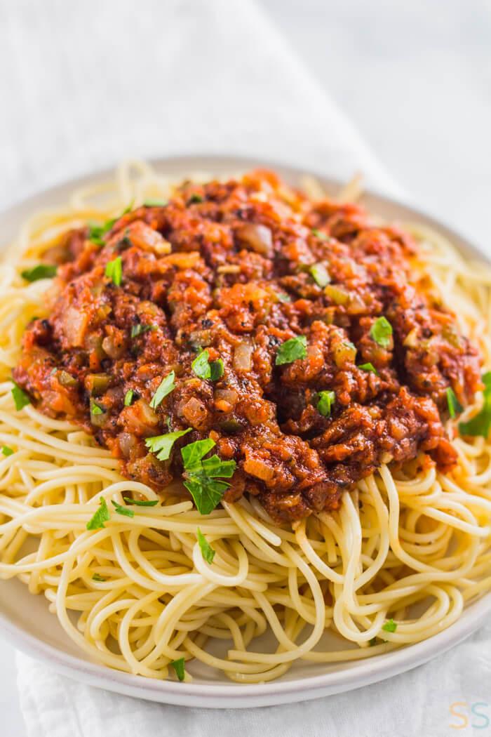 Vegetarian Sauces Recipes  Homemade Spaghetti Sauce Recipe Vegan