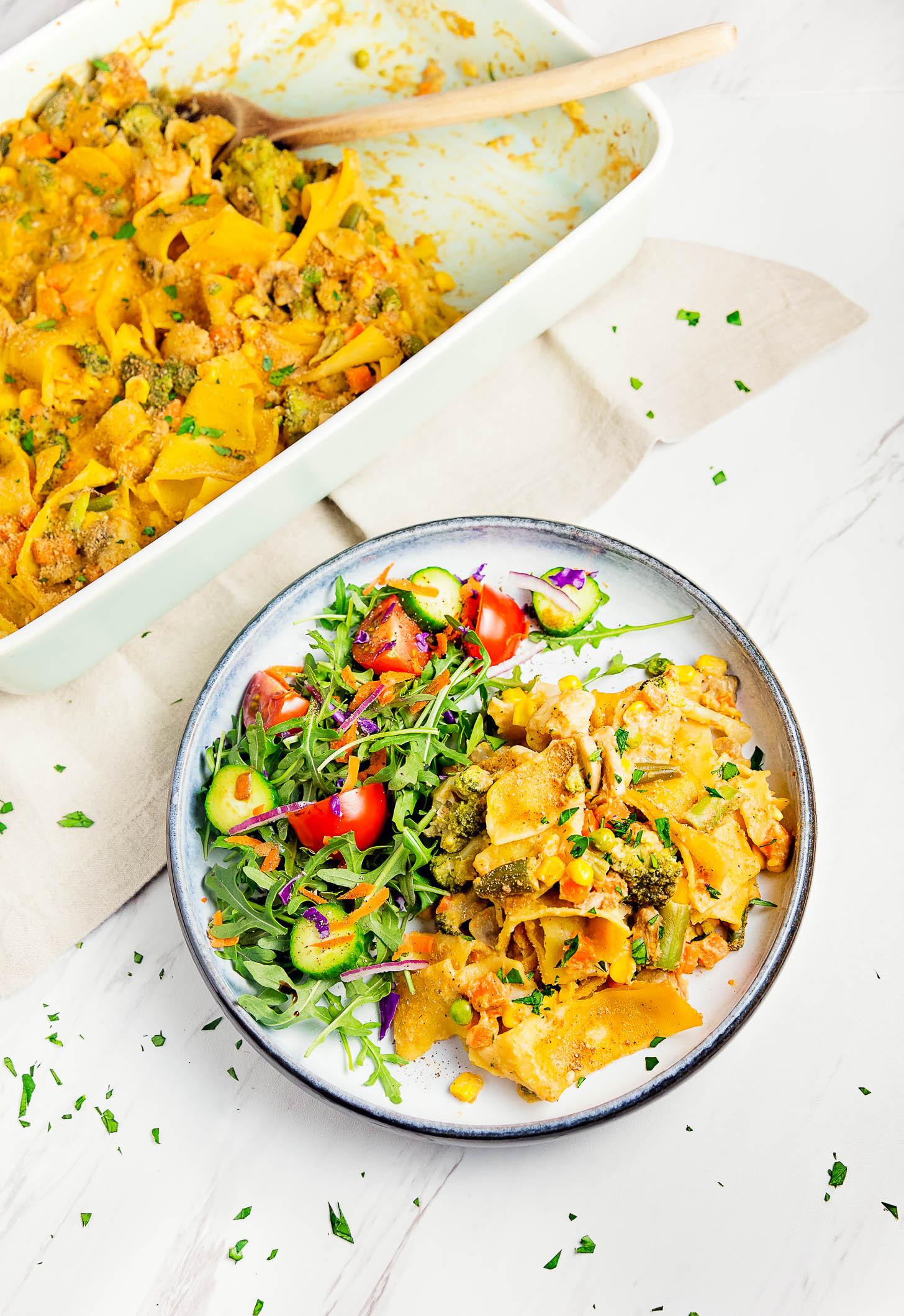 "Vegetarian Tuna Recipes  Vegan ""Tuna"" Noodle Casserole Monkey and Me Kitchen"