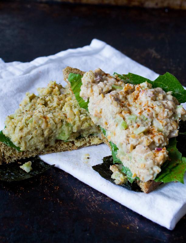 "Vegetarian Tuna Recipes  Vegan Chickpea ""tuna"" salad – quick and incredible"