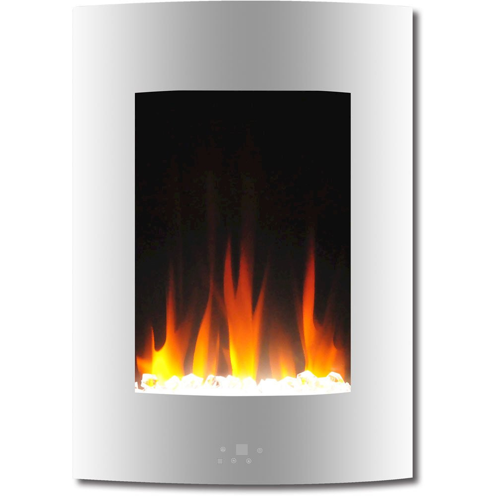 """Vertical Wall Mount Electric Fireplace  19 5"""" Vertical Color Changing Wall Mount Fireplace with"""
