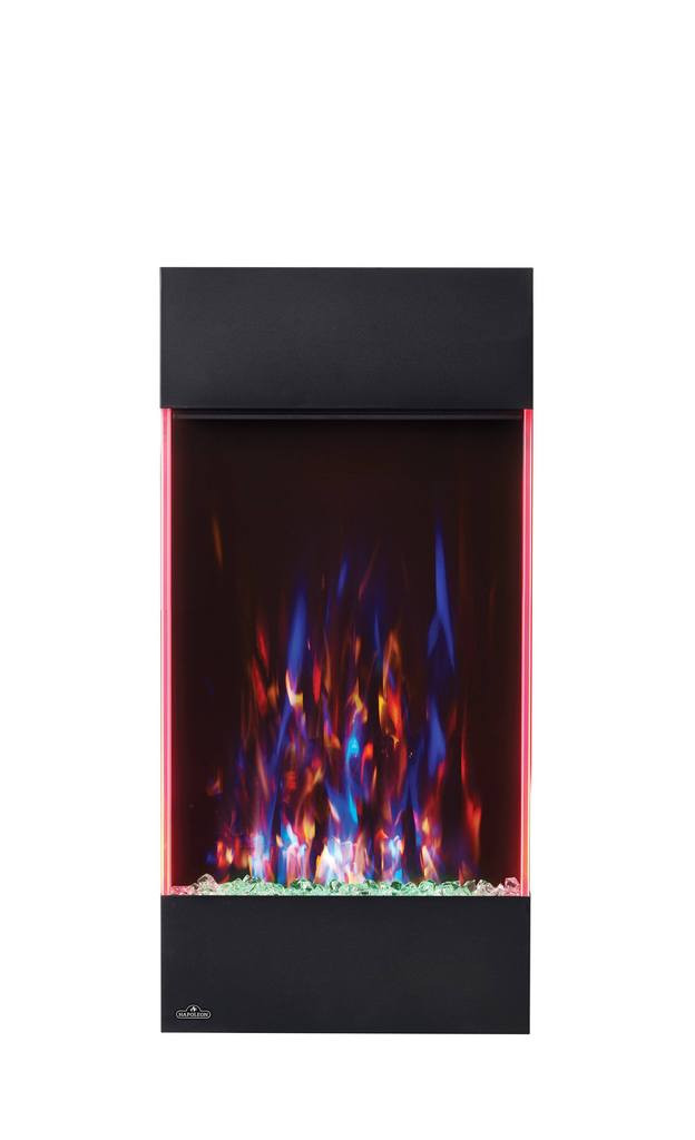 Vertical Wall Mount Electric Fireplace  Napoleon Allure 32 in Vertical Wall Mount Electric