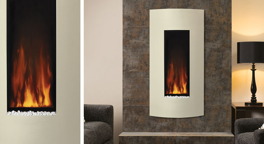 Vertical Wall Mount Electric Fireplace  Studio Electric 22 Wall Mounted Fires