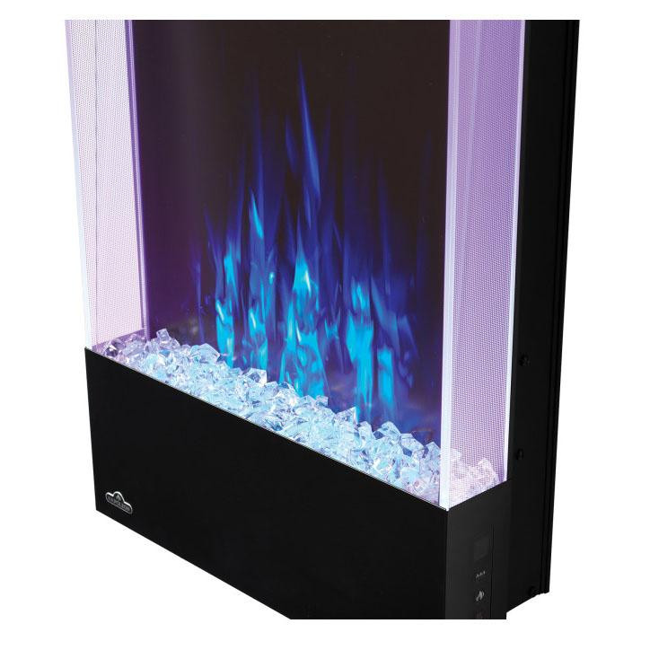 Vertical Wall Mount Electric Fireplace  Napoleon Allure Vertical 38 Inch Wall Mount Electric