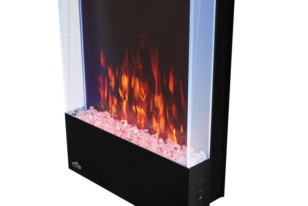 Vertical Wall Mount Electric Fireplace  Napoleon Allure 38 in Vertical Wall Mount Electric