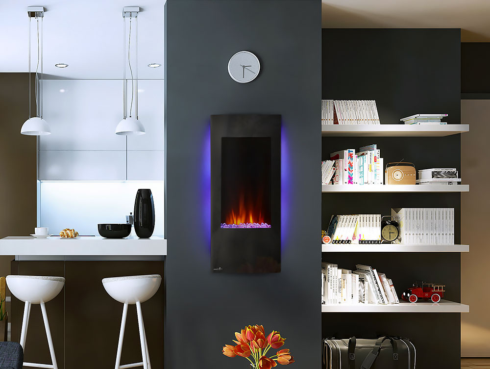 """Vertical Wall Mount Electric Fireplace  Continental 38"""" Vertical Wall Mount Electric Fireplace"""