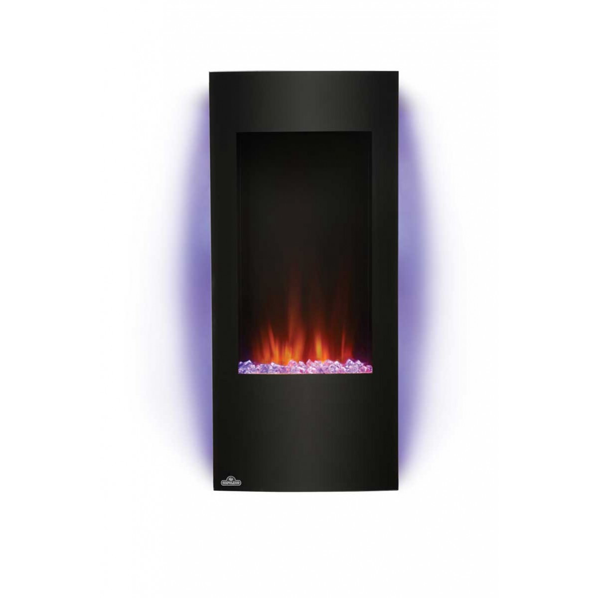 """Vertical Wall Mount Electric Fireplace  Napoleon Azure NEFV38H 38"""" Vertical Wall Mount Electric"""