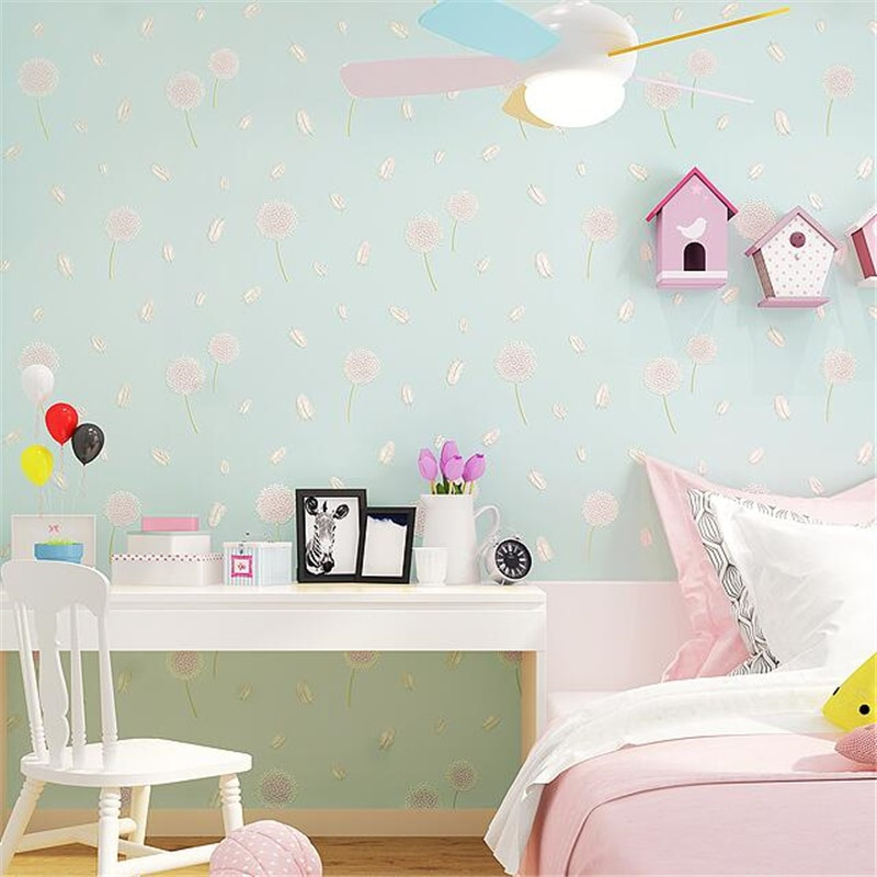 Wall Paper For Kids Room  beibehang Wallpaper Pastoral Bedroom Small Fresh Living
