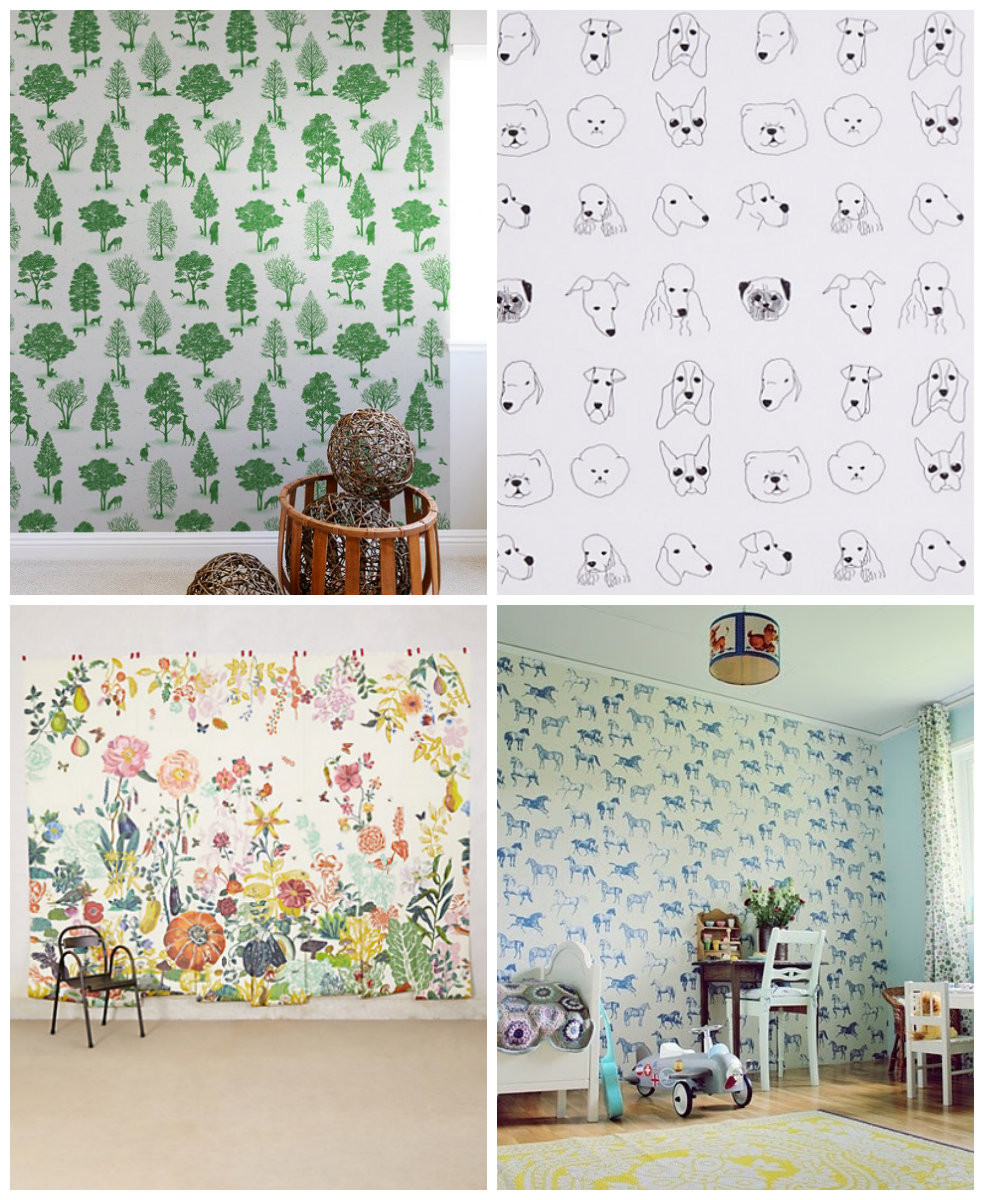 Wall Paper For Kids Room  21 Wallpapers for Kids rooms Hither & Thither