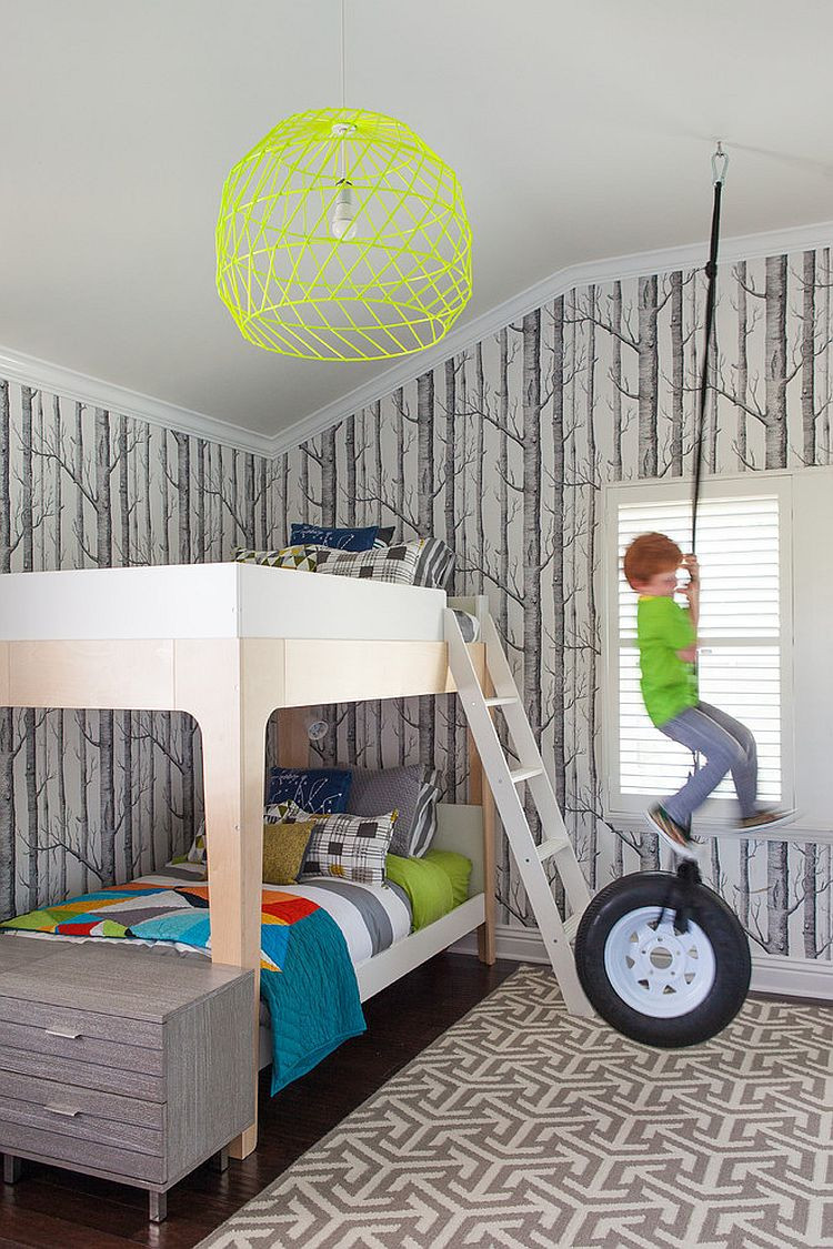 Wall Paper For Kids Room  25 Cool Kids' Bedrooms that Charm with Gorgeous Gray