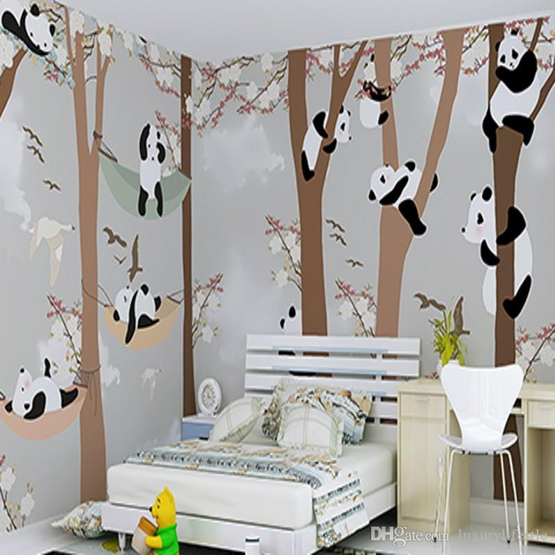 Wall Paper For Kids Room  3d Stereo Custom Children Room Wallpaper Boys Girls