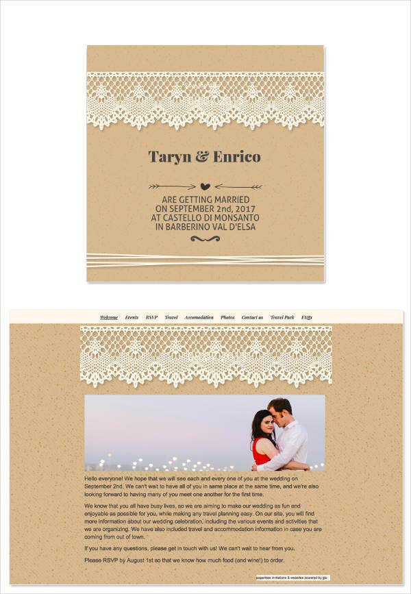 Wedding Email Invitations  8 Wedding E mail Invitation Templates PSD AI Word