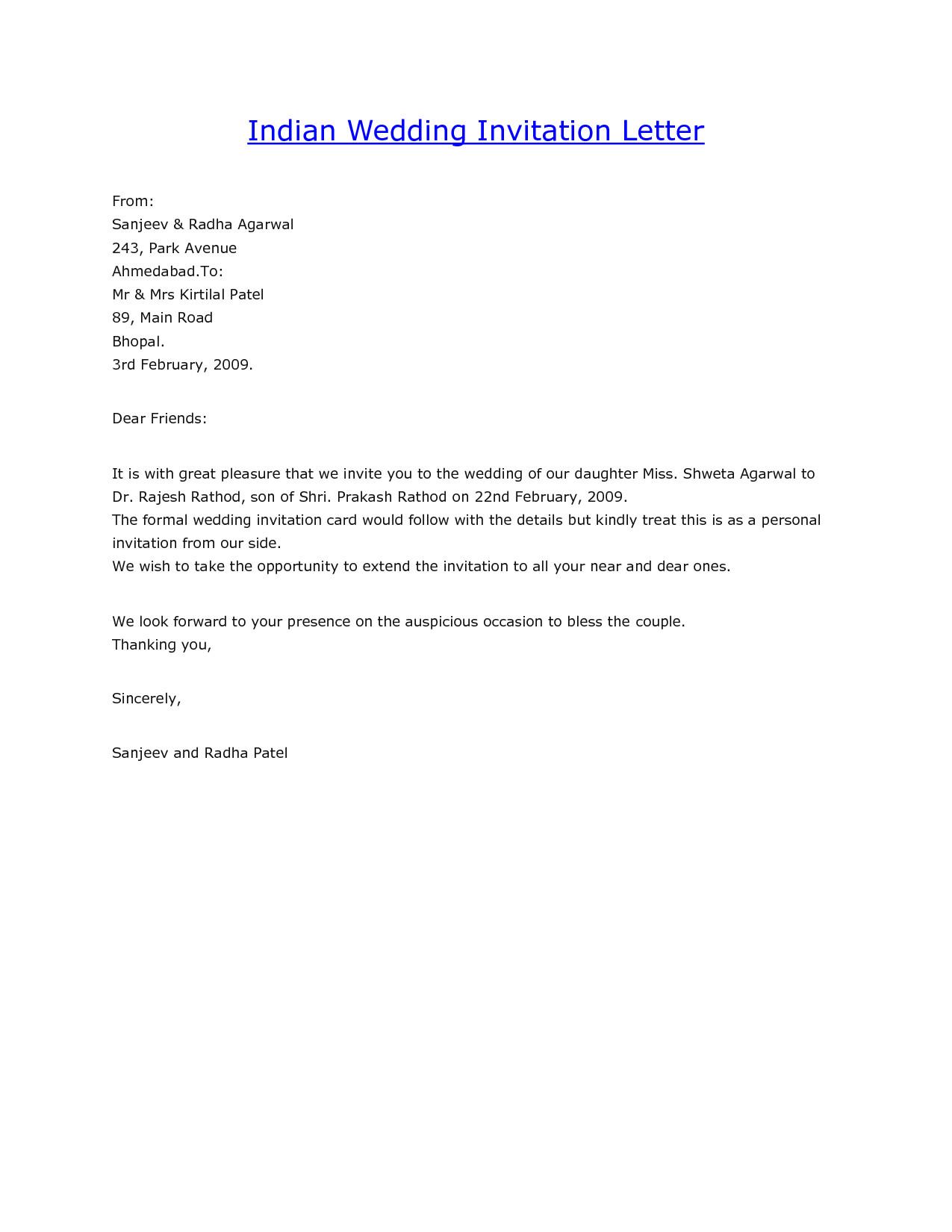 Wedding Email Invitations  Wedding Invitation Mail Sample