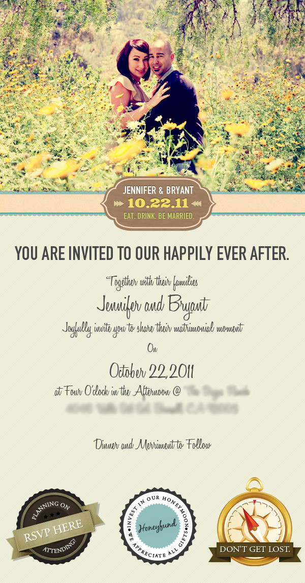 Wedding Email Invitations  Email Wedding Invitation on Behance