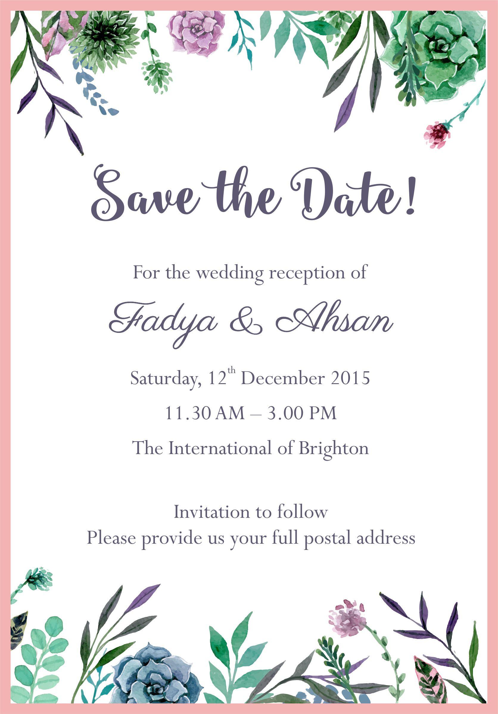 Wedding Email Invitations  Free Email Wedding Invitation Templates Wedding