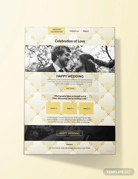 Wedding Email Invitations  19 Free Email Invitation Designs JPG PSD Ai