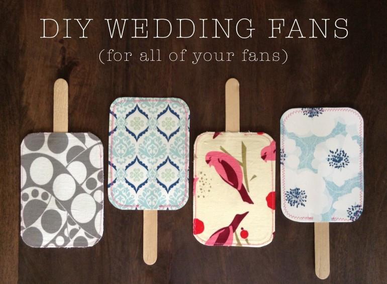 Wedding Fan DIY  DIY Wedding Fans
