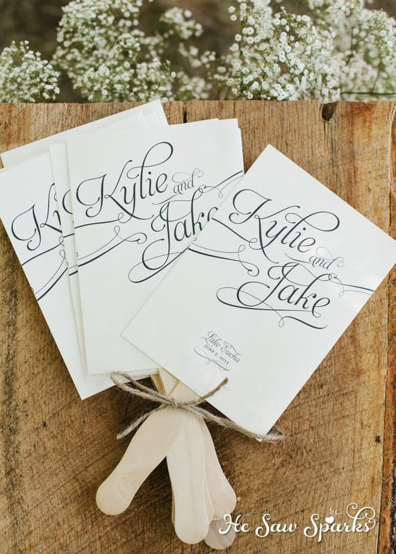 Wedding Fan DIY  Items similar to Printable Paddle Fan Program DIY on Etsy