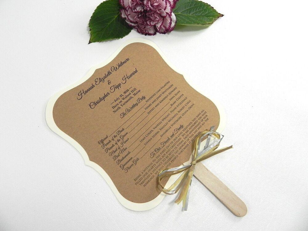 Wedding Fan DIY  DIY KIT Custom Rustic Wedding Program Fans Personalized