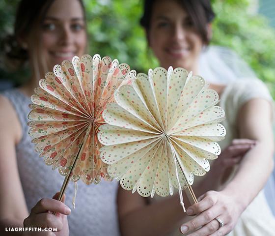 Wedding Fan DIY  DIY Paper Fans for Your Wedding or Summer Event