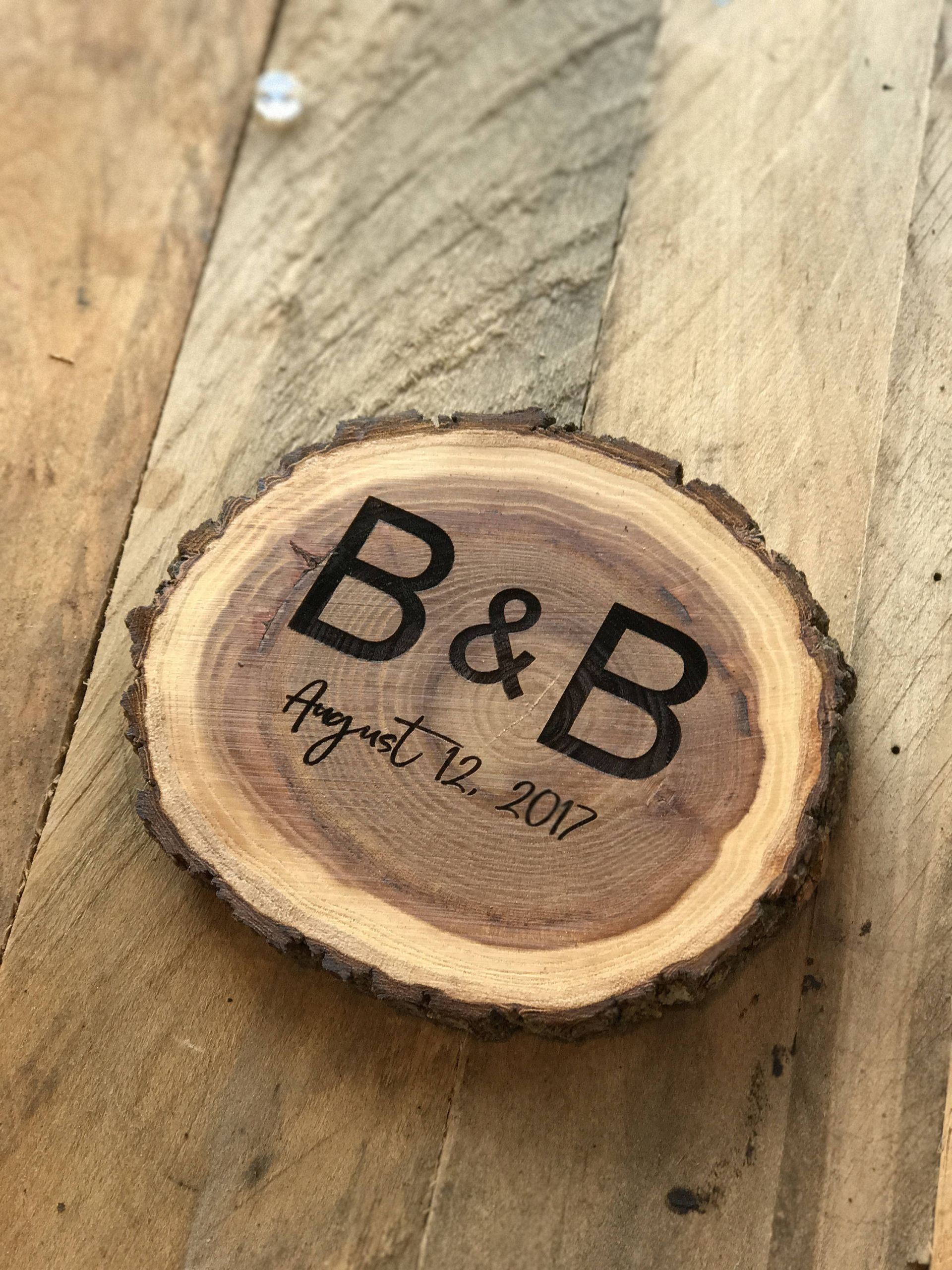 Wedding Favor Coasters  Personalized Rustic Wooden Coaster Wedding Favors