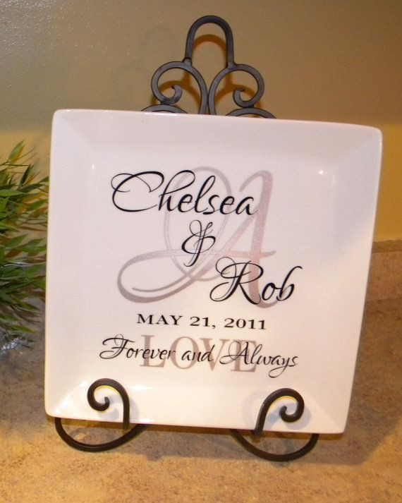 Wedding Gift Ideas For Middle Aged Couple  Personalized Wedding Gift Plate Anniversary Gift For