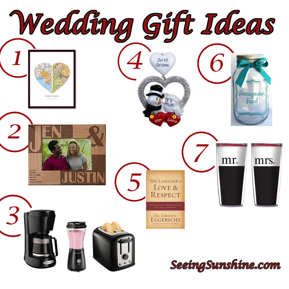Wedding Gift Ideas For The Couple  Wedding Gift Ideas Seeing Sunshine