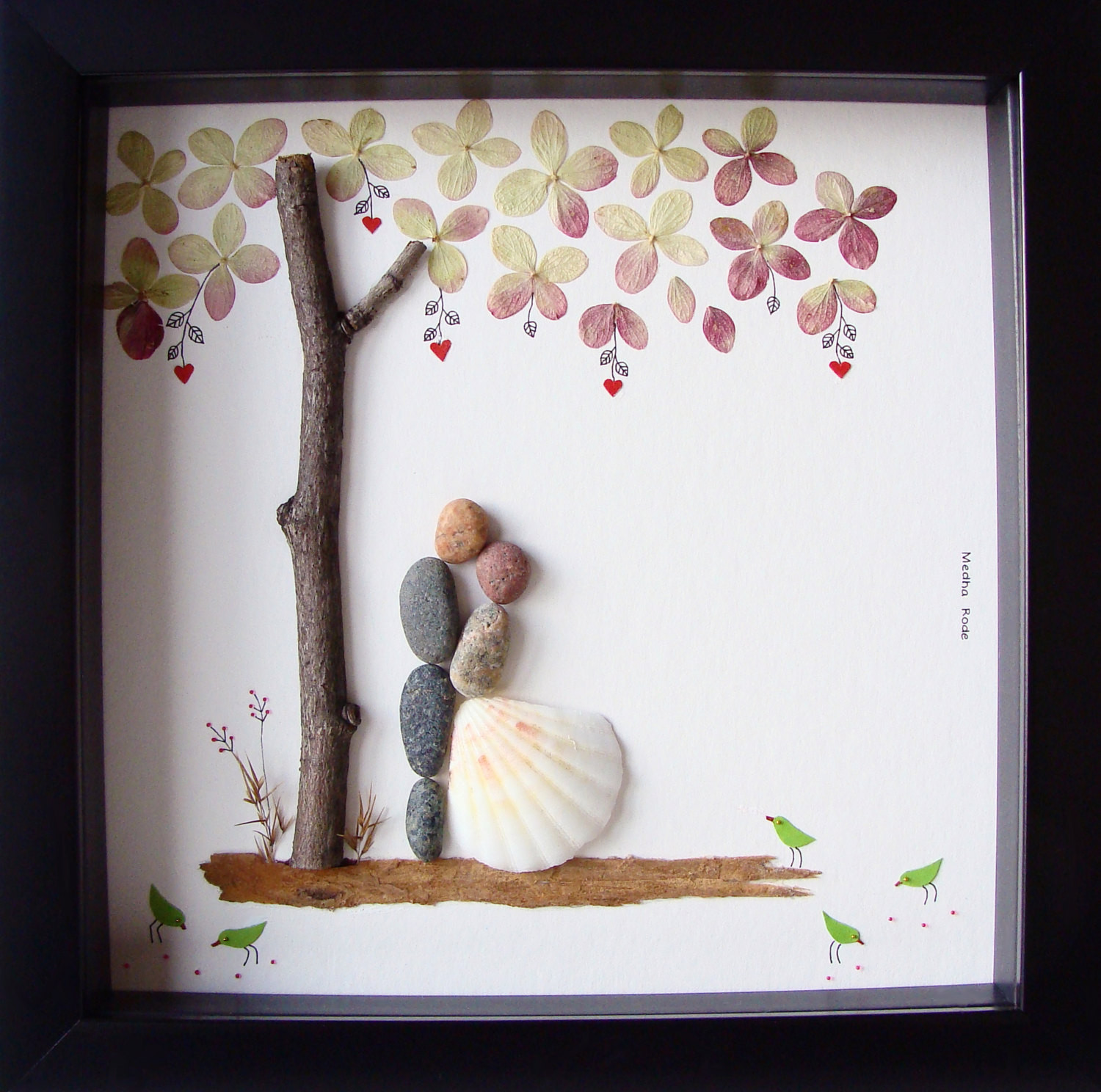 Wedding Gift Ideas For The Couple  Unique Wedding Gift For Couple Wedding Pebble Art by MedhaRode