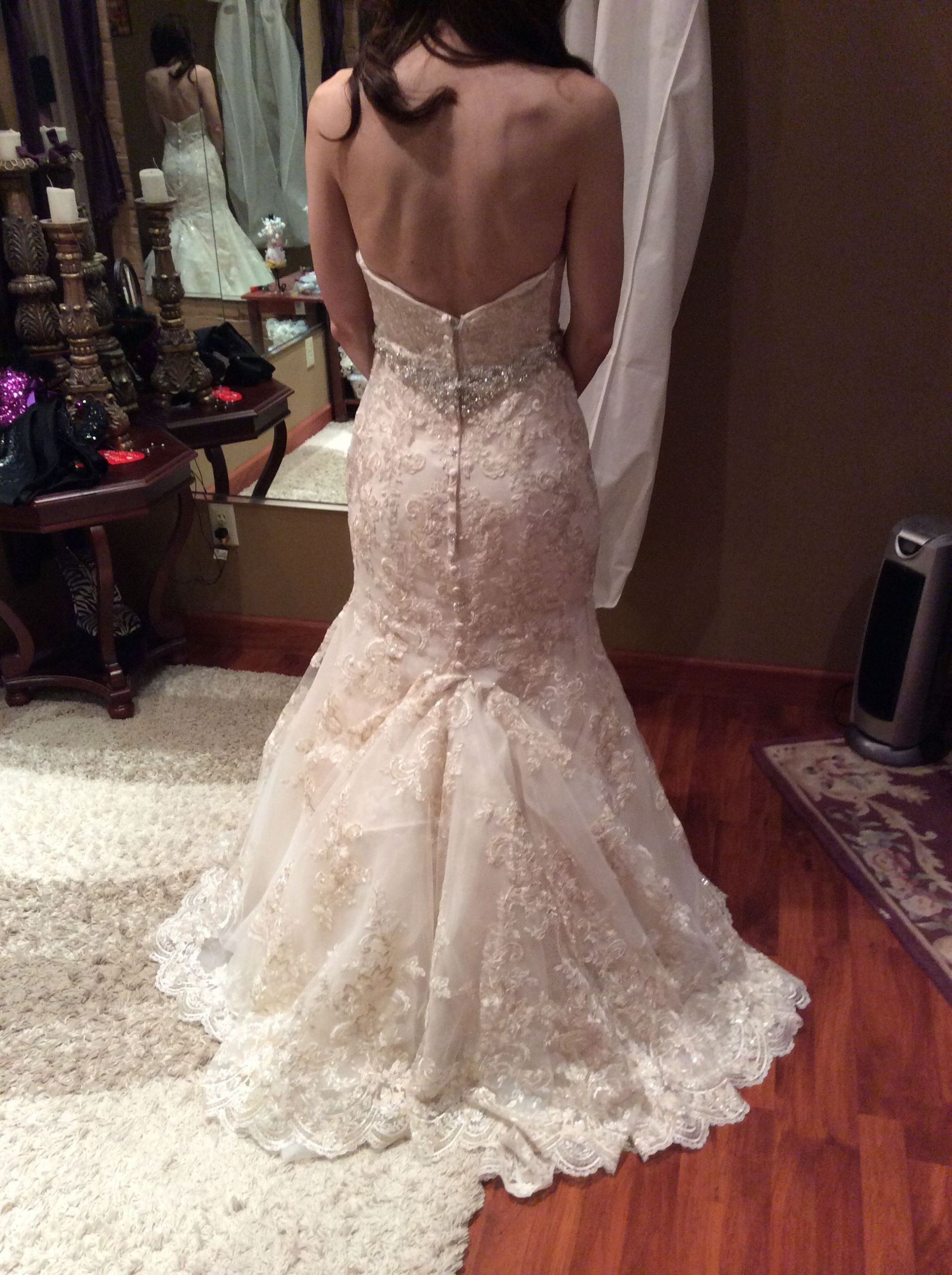 Wedding Gown Bustle  Over bustle
