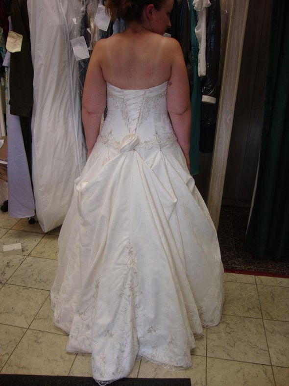 Wedding Gown Bustle  three point over bustle in 2019