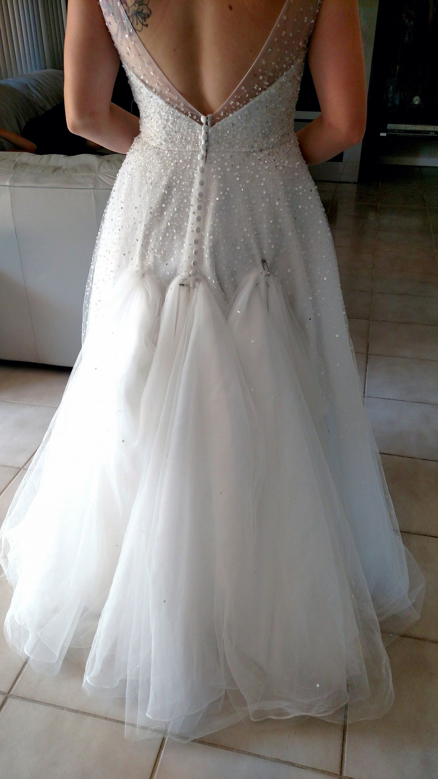 Wedding Gown Bustle  Bustle on tulle dress Show me yours