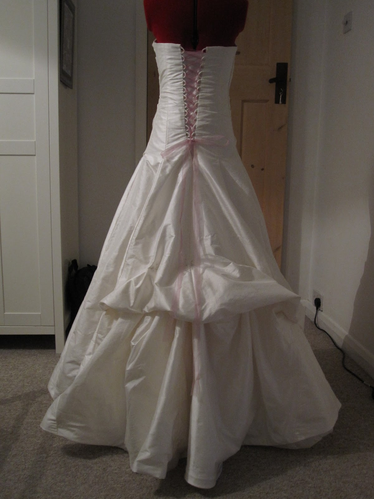 Wedding Gown Bustle  Queen of Darts hustle and bustle the hem of the