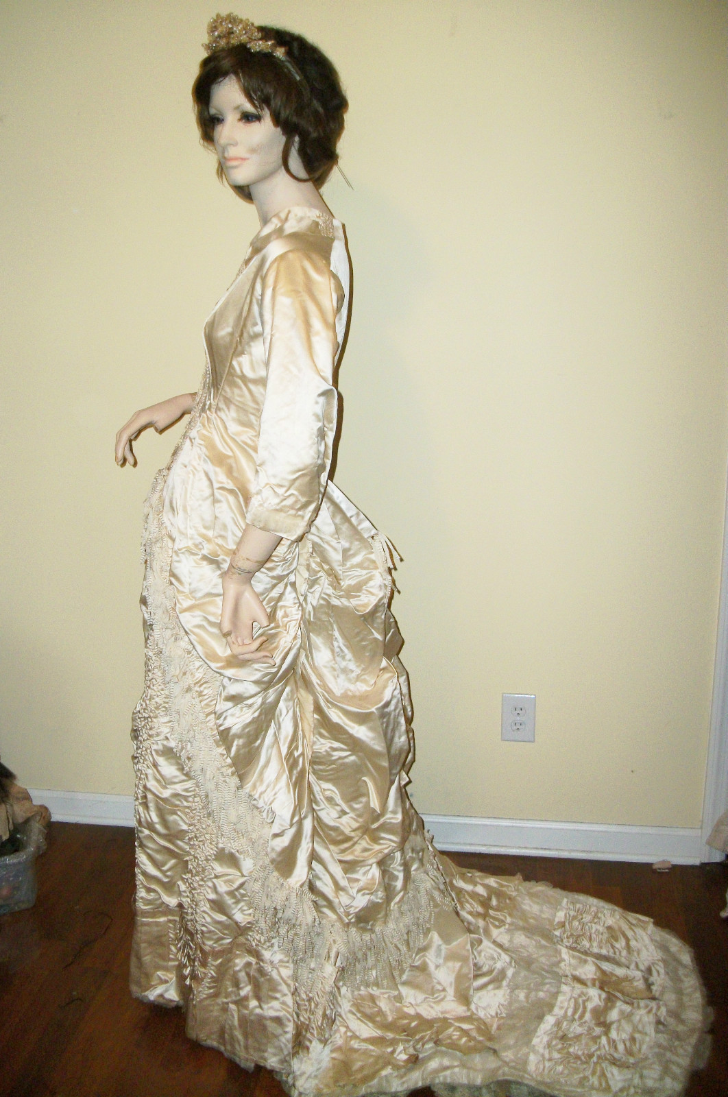 Wedding Gown Bustle  All The Pretty Dresses Bustle Era Wedding Gown