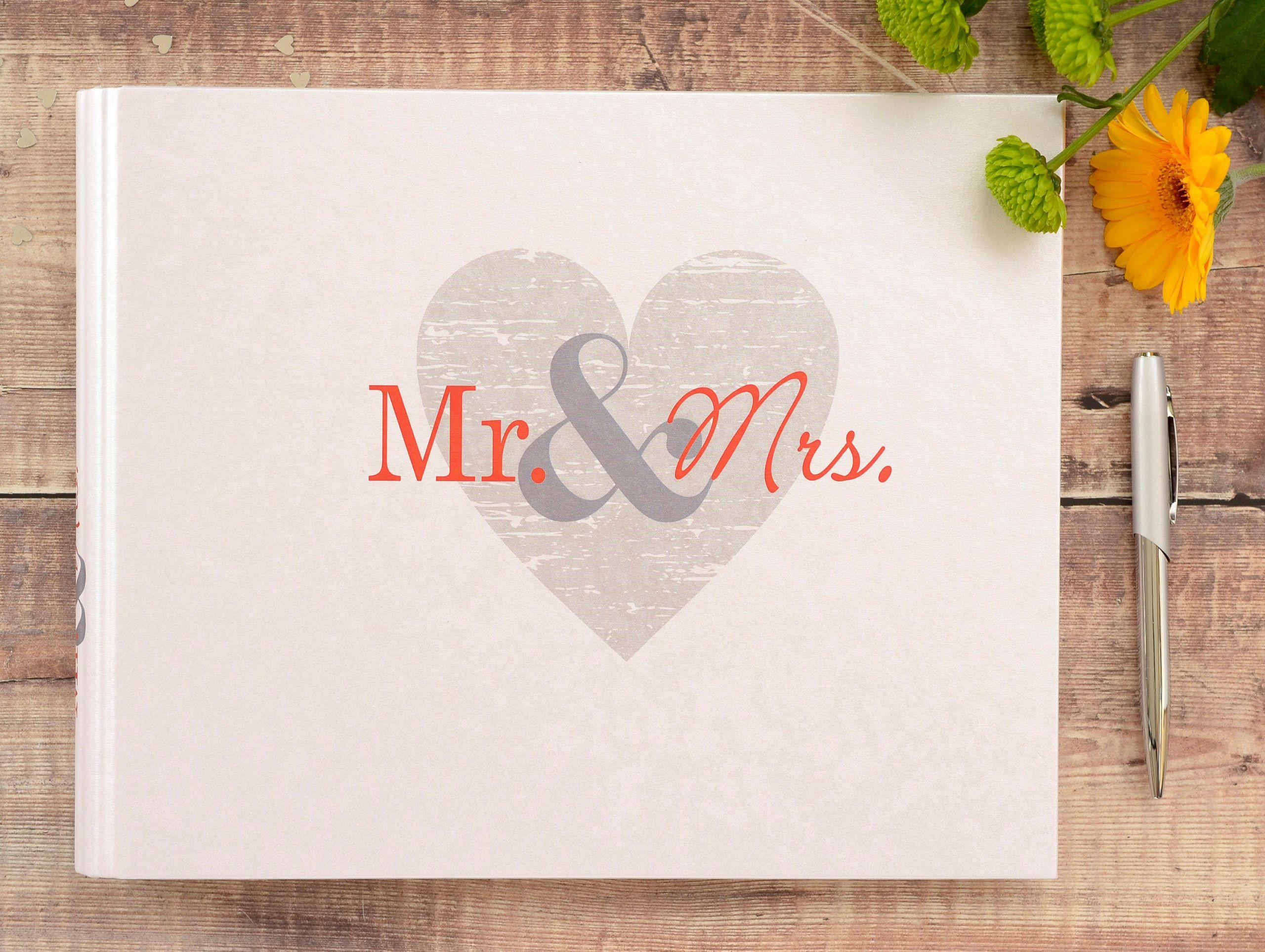 Wedding Guest Book Ivory  Wedding Guest Book Ivory Mr & Mrs Wedding Guest