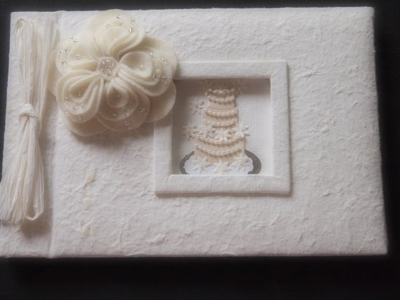 Wedding Guest Book Ivory  Guest Book Wedding Ivory
