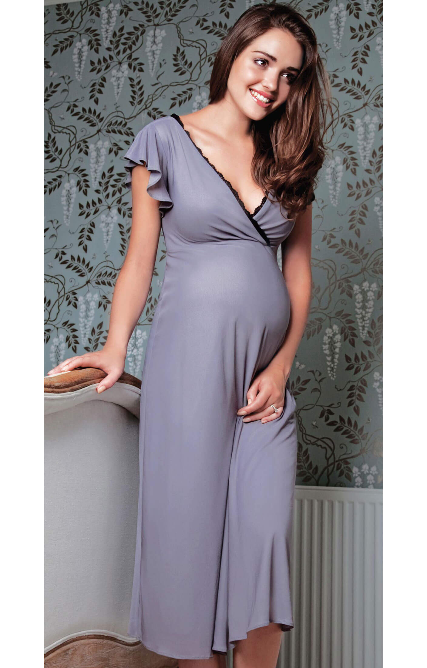 Wedding Night Gowns  Francesca Maternity Night Gown Maternity Wedding Dresses