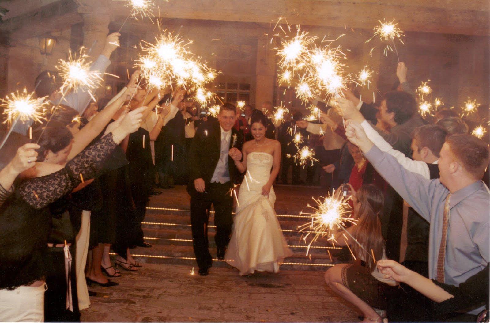 Wedding Sparkler  Wedding sparklers Lighting up the party
