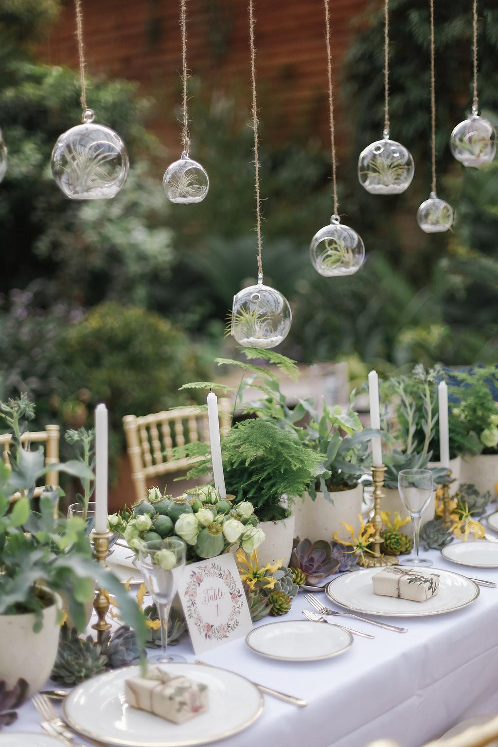 Wedding Table Decorations  18 Rustic Greenery Wedding Table Decorations You Will Love