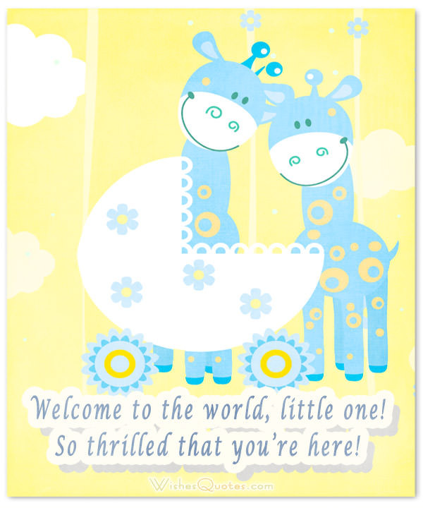 Welcome Quotes For New Born Baby Boy  Baby Boy Congratulation Messages with Adorable