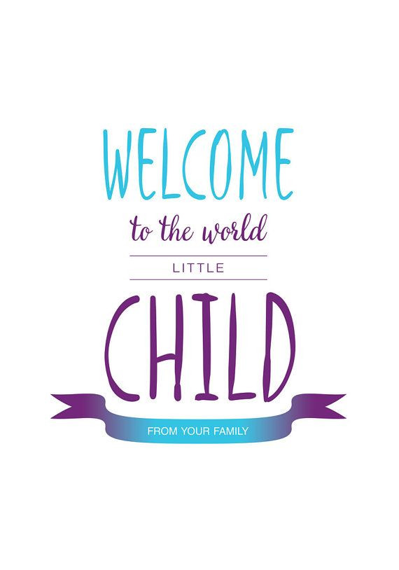 Welcome Quotes For New Born Baby Boy  Print poster newborn baby Quote prints Wel e to by