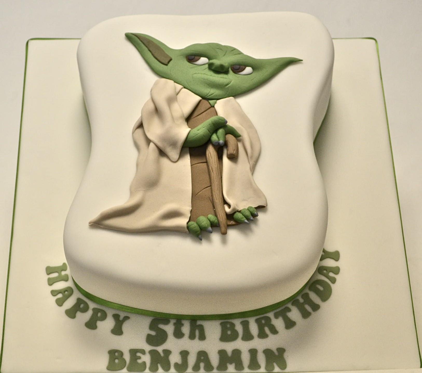 Yoda Birthday Cake  Shaped Yoda Cake Celebration Cakes Cakeology